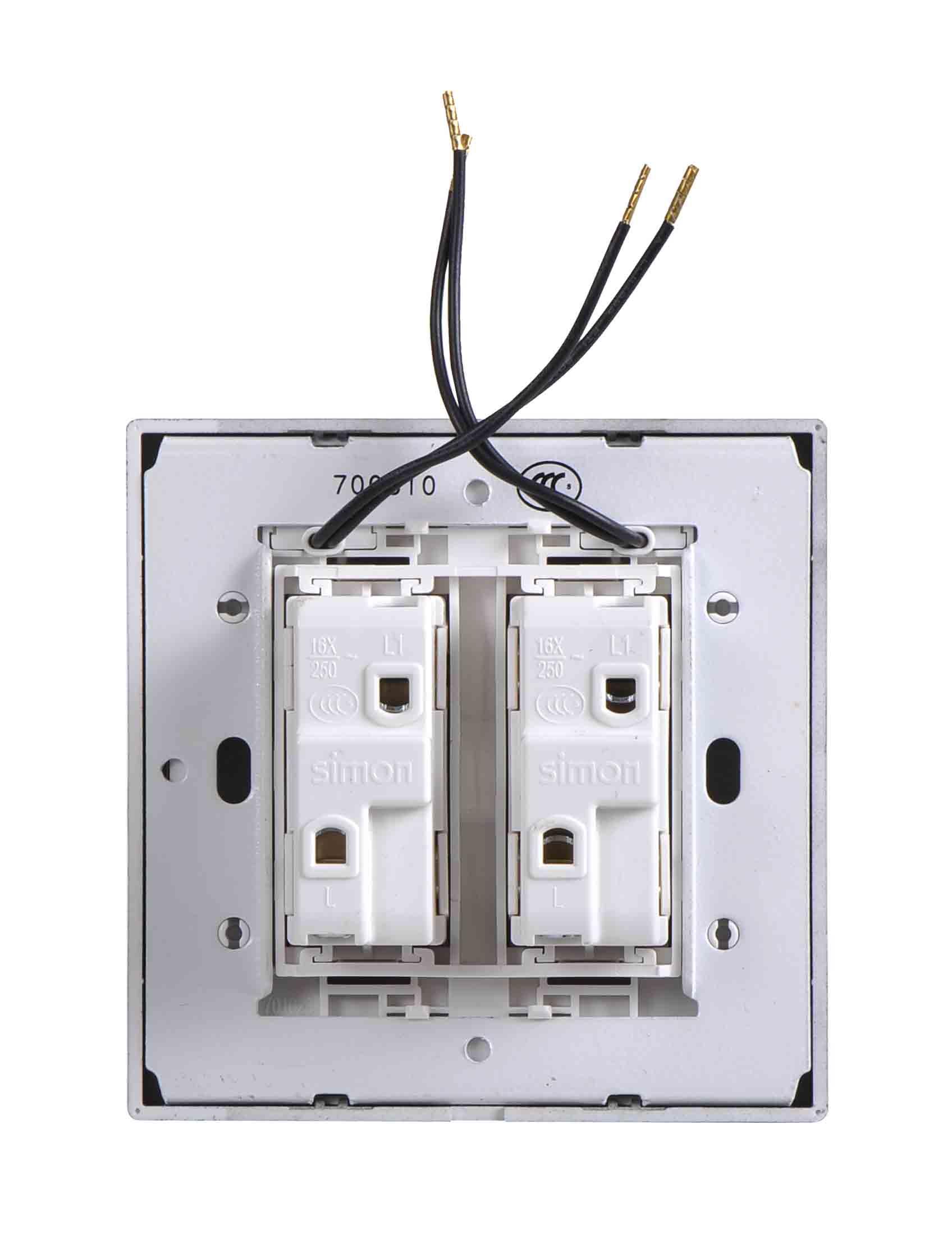 Module công tắc đôi, một chiều có đèn LED 701023