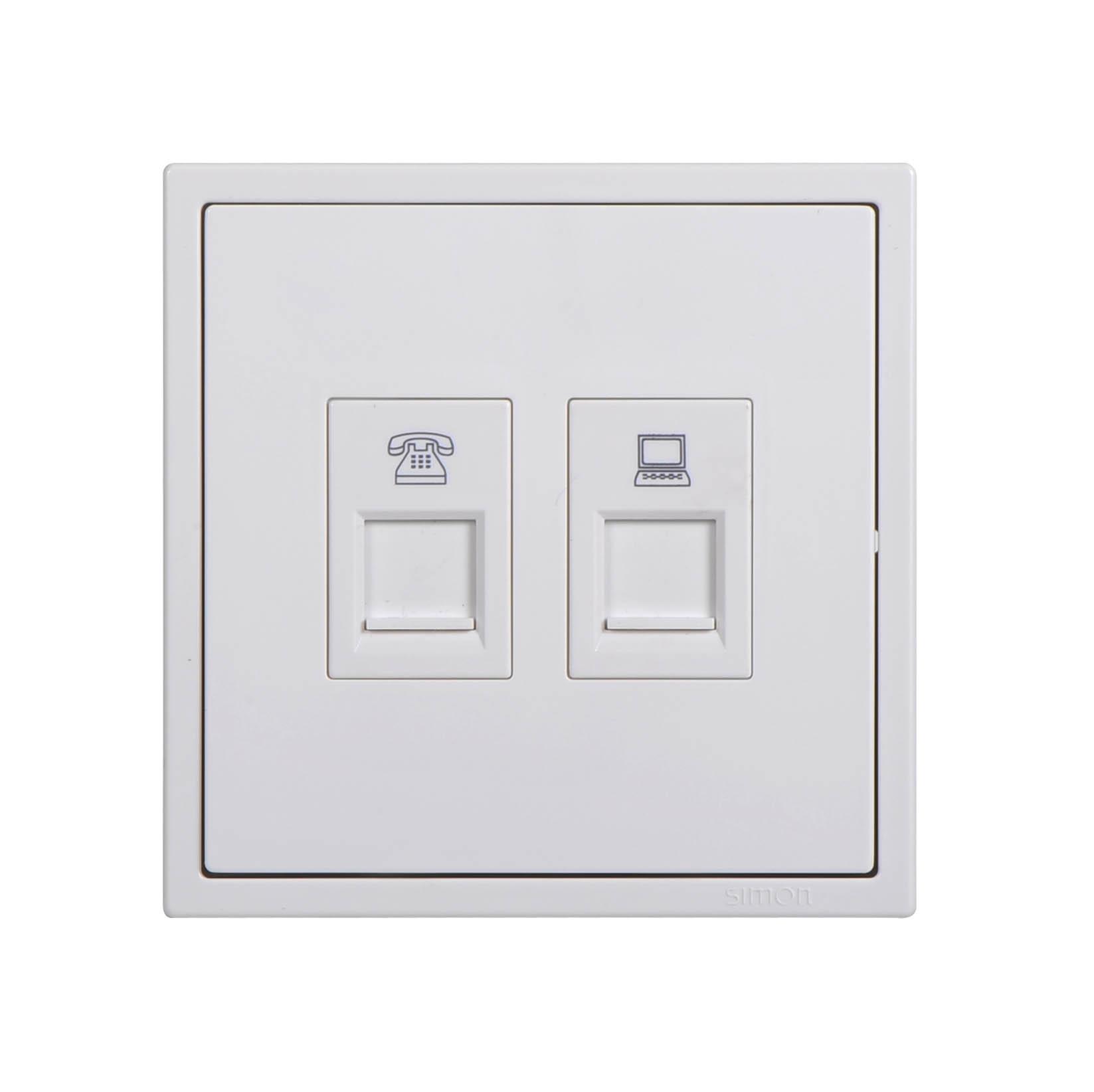 Ổ cắm điện thoại kết nối RJ11 và ổ cắm dữ liệu Cat6 705629