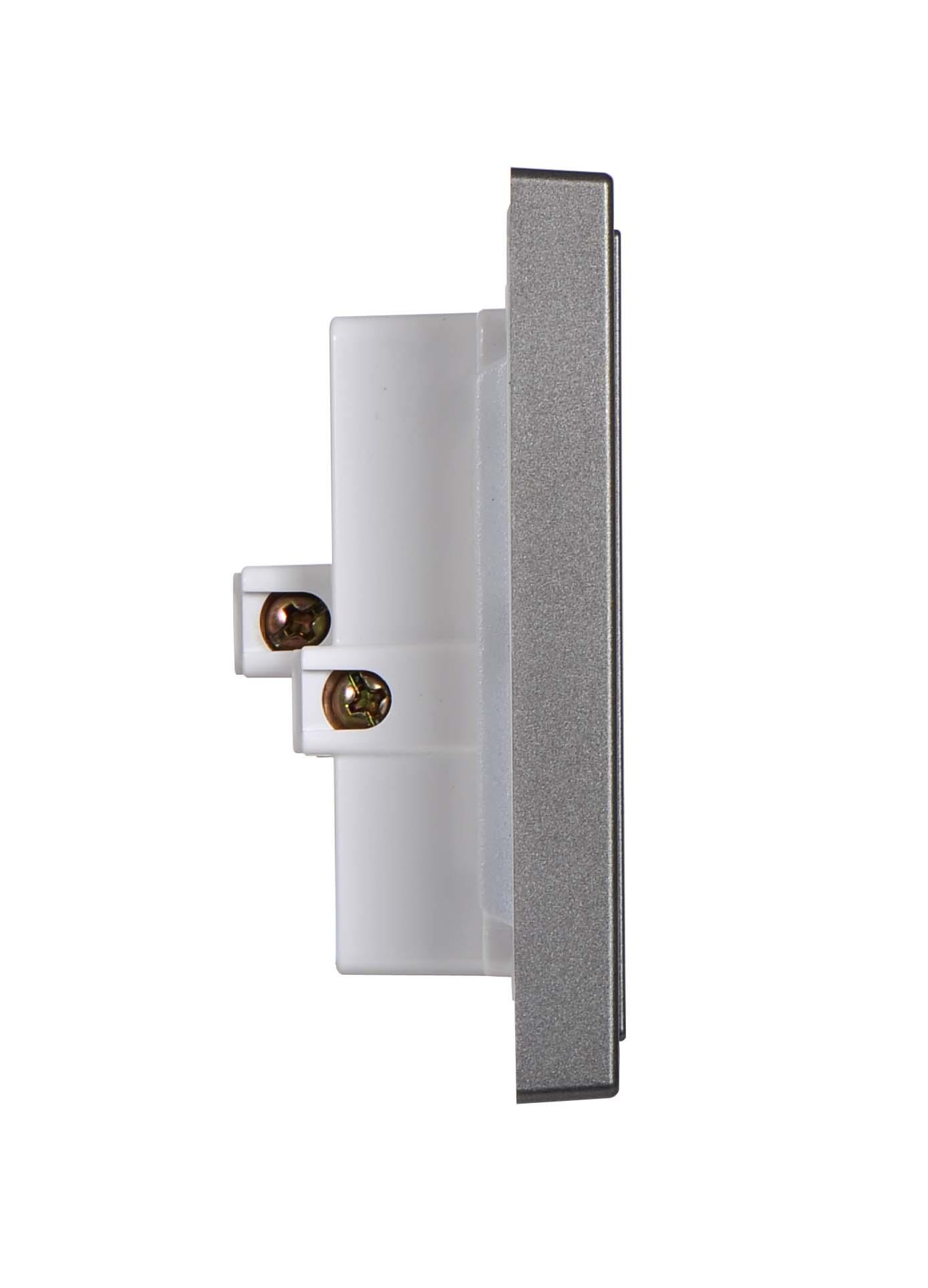 Bộ ổ cắm đôi 3 chấu chuẩn Âu-Mỹ 16A(Bao gồm 1 module và 1 khung) 711287