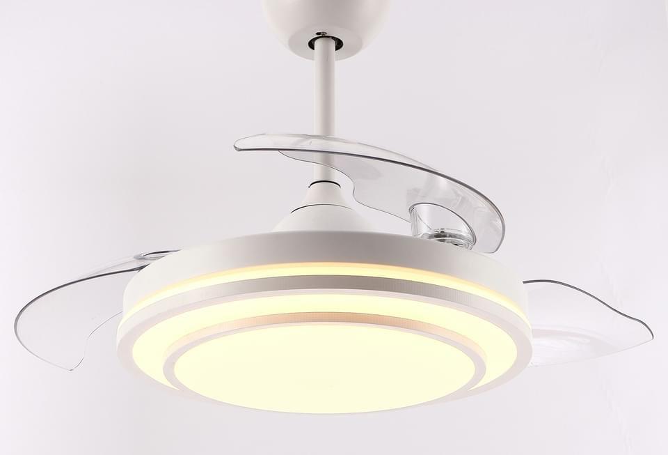 Quạt trần đèn giấu cánh TCL XS0011 màu trắng